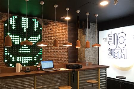 Decoracion restaurante Ole Mole en Madrid