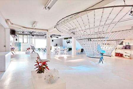 El reciclaje como centro del showroom de Pentatonic en Londres