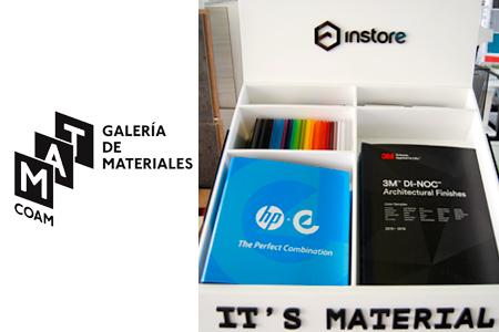 INSTORE, empresa expositora en la Galería de Materiales del COAM