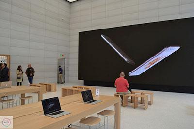 Acabados naturales para Apple Store en Bruselas