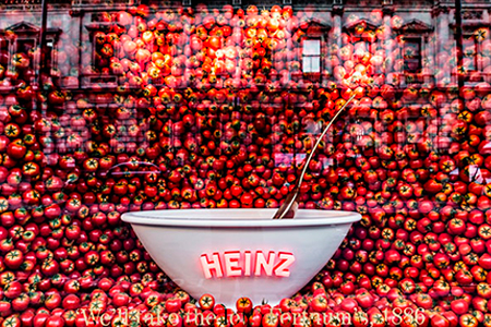 Los escaparates de Heinz en Piccadilly Londres
