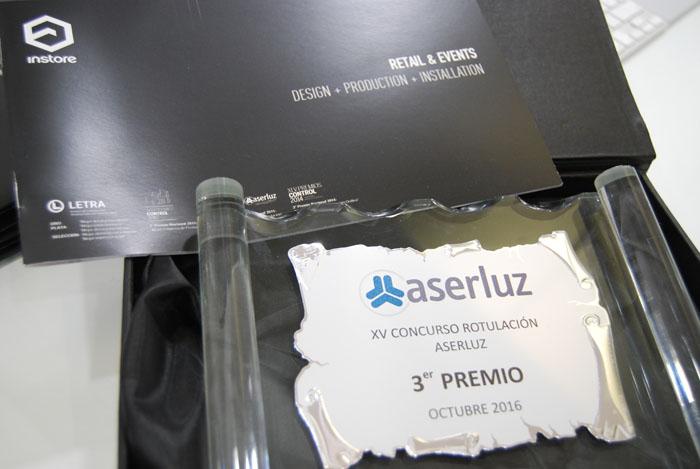 INSTORE OBTIENE EL III PREMIO DE ROTULACIÓN ASERLUZ 2016