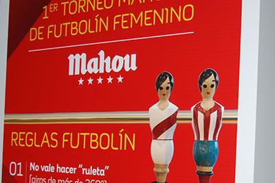 Mobiliario personalizado para el I Campeonato de Futbolín Femenino de Mahou