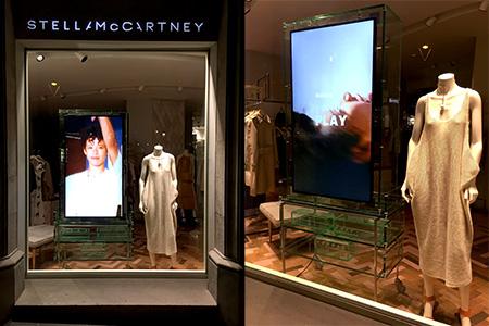 Mobiliario para los escaparates de Stella McCartney en España