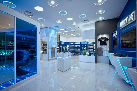 Espectacular imagen de marca en Play Station Shop de Seúl