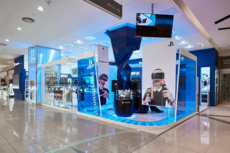 Espectacular imagen de marca en Play Station Shop de Seul