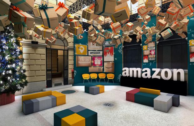 Pop up efímeros de Amazon