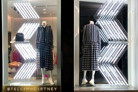 Producción de escaparates para las boutiques de Stella McCartney Spain