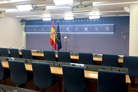 Decoracion grafica sala de prensa Congreso de los Diputados