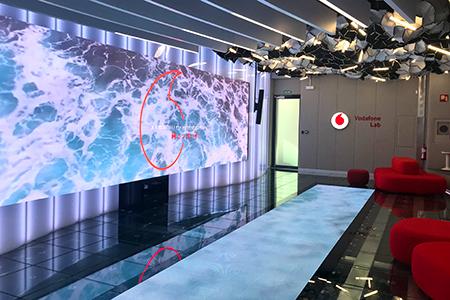 Rotulacion en sedes y tiendas Vodafone