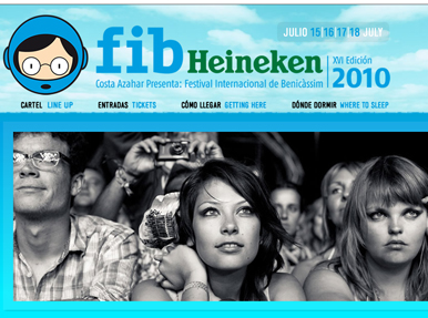 El backstage digital del FIB Heineken 2010