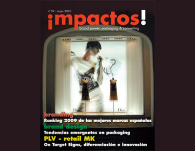 Portada en la revista Impactos plv retail marketing escaparatismo