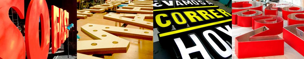 Fabricacion letras corporeas rotulos rotulacion letras - Fabricacion letras corporeas ...