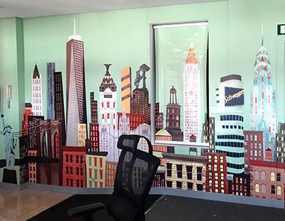 Produccion vinilo integral decoracion oficinas