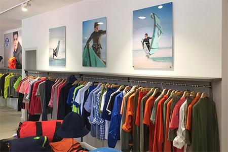 Produccion grafica para showroom de North Sails en Madrid