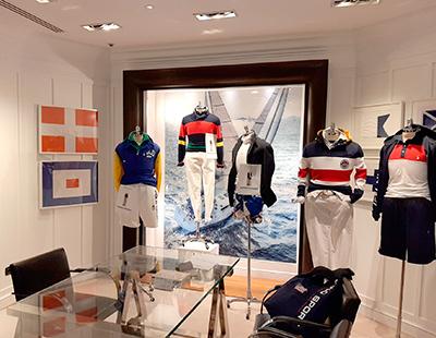 Produccion grafica para showroom de Ralph Lauren en Madrid