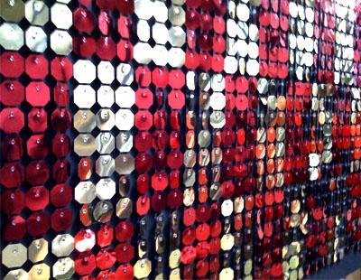 Fabricacion decoracion con spangles para visual - Adornos de navidad para escaparates ...