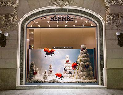 Escaparates de Navidad de Hermes Spain