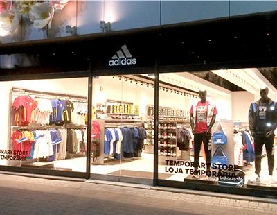 Aplicacion vinilo laminado imagen gran formato Adidas Portugal
