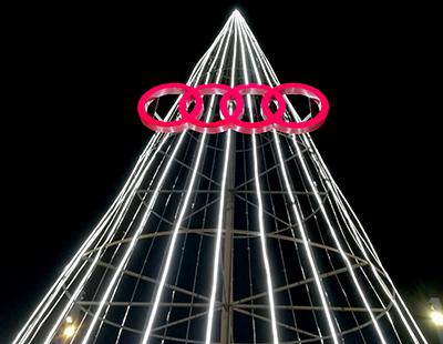 Decoracion de Navidad concesionario Audi