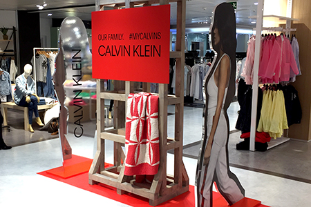 Produccion de pop up para Calvin Klein
