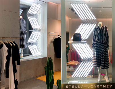 Produccion de escaparates para las boutiques de Stella McCartney Spain