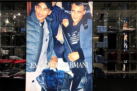 Actualizacion grafica de boutique Armani en Madrid y Barcelona