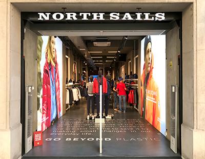 Produccion grafica para punto de venta North Sails