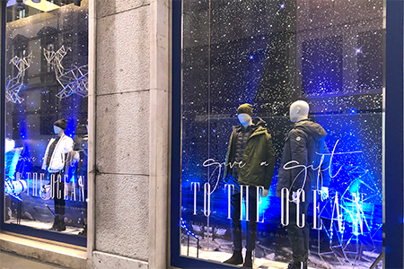 Escaparates de Navidad de North Sails en Milan