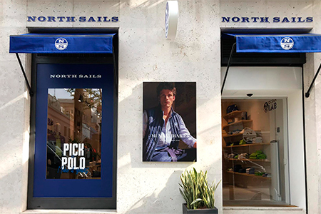 Produccion grafica para boutique de North Sails