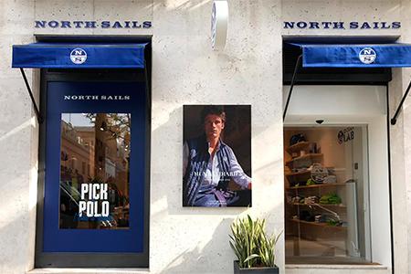 Produccion grafica para boutique de North Sails