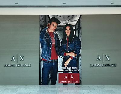 Produccion grafica para boutiques de Armani en Madrid