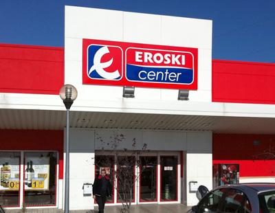 Fabricacion de rotulos luminosos para supermercados eroski - Eroski iluminacion ...