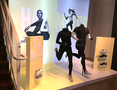 Producción de escaparates para Nike