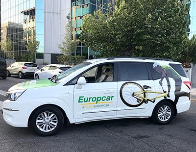 Rotulacion vehiculo sorteo #BikersEuropcar