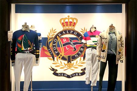 Decoracion del showroom de Ralph Lauren en Madrid