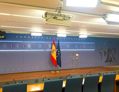 Decoracion grafica sala de prensa de El Congreso de los Diputados
