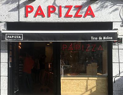 Rotulacion exterior e interior para Papizza en Madrid